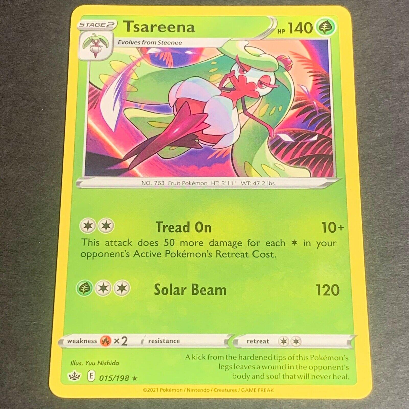 Pokemon S&S Chilling Reign Set RARE Tsareena 015/198 - Near Mint (NM) Condition