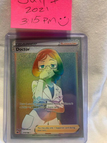 Doctor Rainbow Secret Rare 214/198 Pokemon Card Chilling Reign