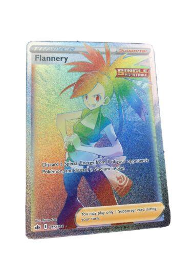 Flannery 215/198 Full Art Secret Rare Rainbow Chilling Reign Pokemon Card