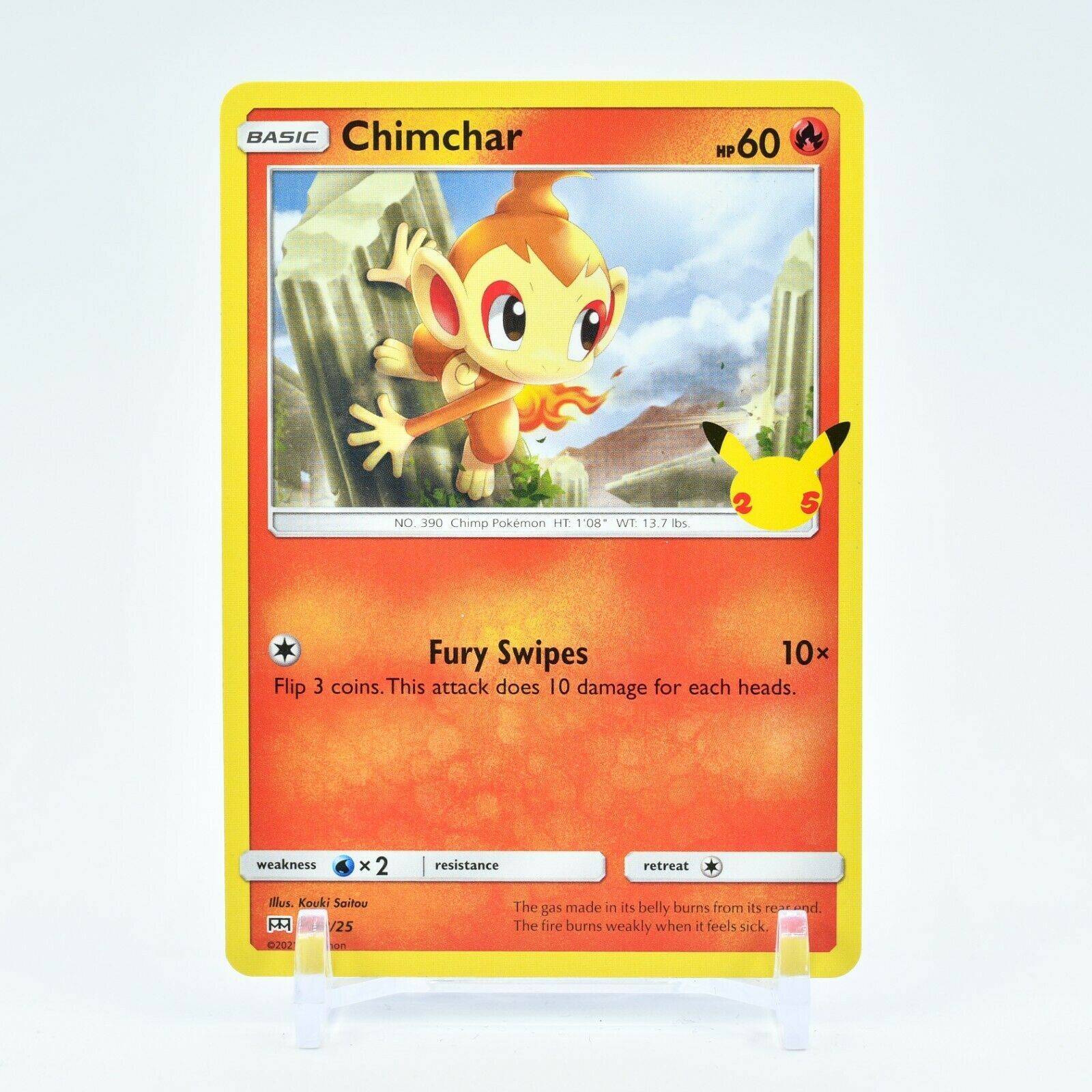 Chimchar - 12/25 Mcdonald's Promo 25th Anniversary Starter Pokemon - NM/MINT