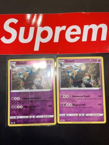 🔥x2 Golurk - 066/198 - Rare - Reverse Holo Pokemon SS06 Chilling Reign Rare