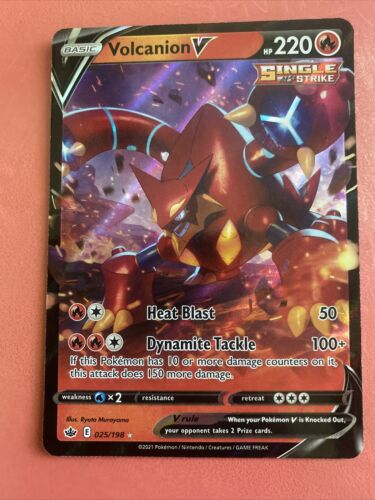 ✨Volcanion V #025/198 Ultra Rare Pokémon Chilling Reign✨