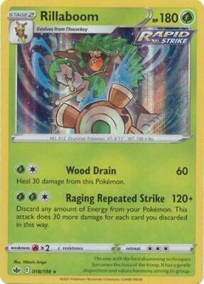 Pokemon Card Chilling Reign 018/198 Rillaboom Holo Rare