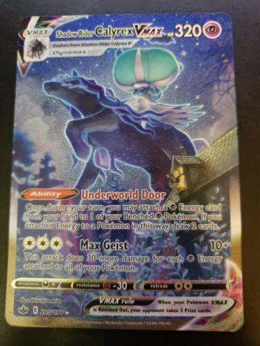 Shadow Rider Calyrex VMAX 205/198 Alternate Art Pokemon Card Chilling Reign NM