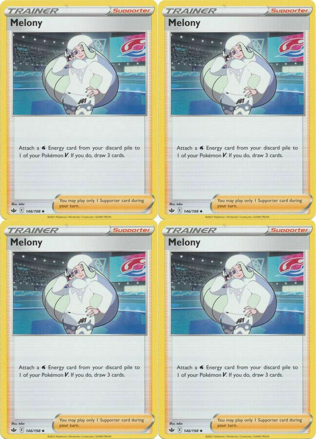 Pokemon - 4x Melony 146/198 - Chilling Reign - NM/M