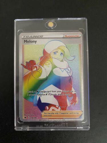 Melony 218/198 RAINBOW SECRET RARE FULL ART TRAINER Pokemon CHILLING REIGN