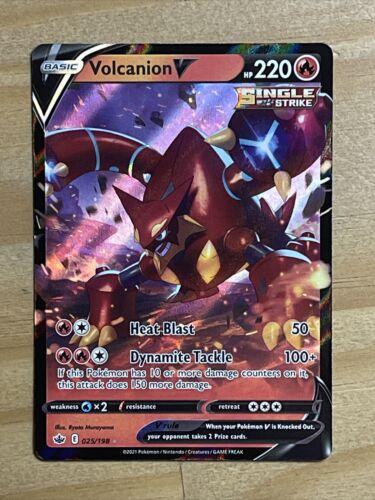 Pokemon Volcanion V 025/198 Ultra Rare Chilling Reign NEW IN-HAND