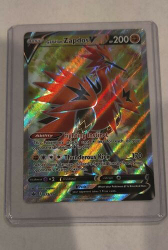 Galarian Zapdos V Full Art Rare 173/198 NM - Pokemon TCG Chilling Reign