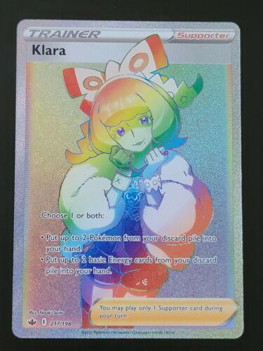 🌈 Pokémon Klara Chilling Reign 217/198 Secret Rare Rainbow 🌈