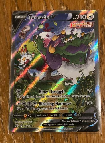 Pokemon Chilling Reign Tornadus V Alternative alt full art 185/198 NM/M