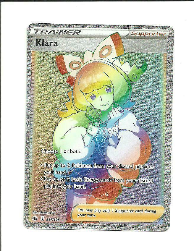 POKEMON CHILLING REIGN Klara Secret Rare Trainer 217/198