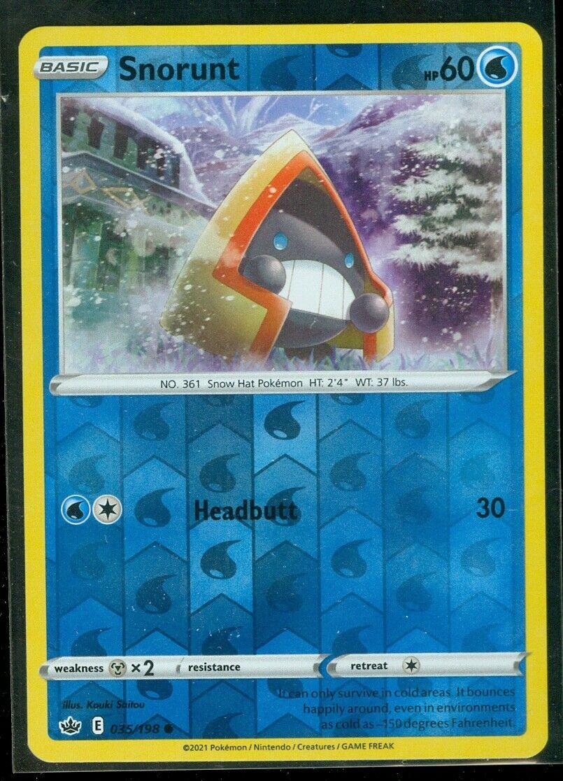 Pokemon SNORUNT 035/198 Chilling Reign - Rev Holo - - MINT