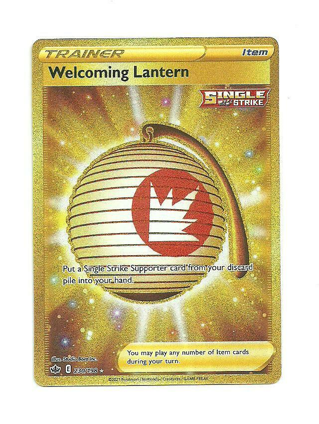 Pokemon : SWSH CHILLING REIGN Welcoming Lantern 230/198 SECRET RARE