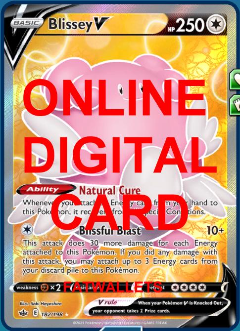 1X Blissey V 182/198 Chilling Reign Pokemon Online Digital Card