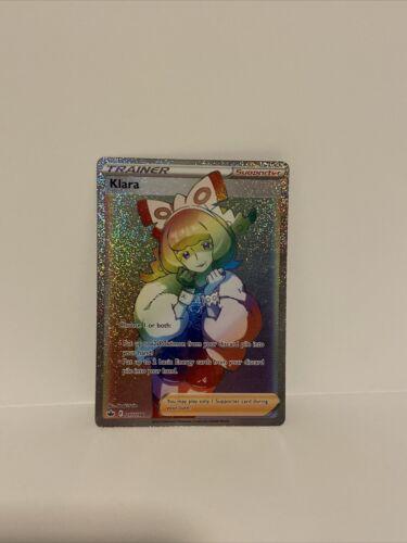 Klara 217/198 Rainbow Secret Rare Chilling Reign Pokemon Card NM/M