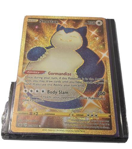 Snorlax (224/198) - Secret Rare Chilling Reign- Pokemon TCG NM Gold Holo