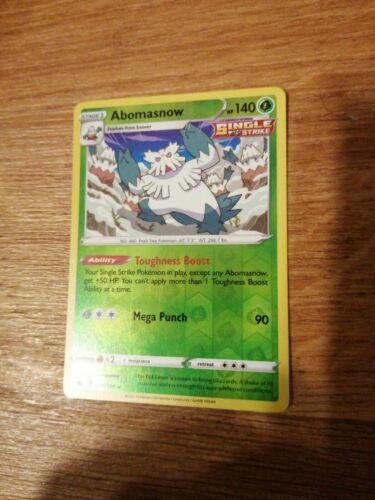 Pokemon Chilling Reign Abomasnow 010/198 Reverse Holo