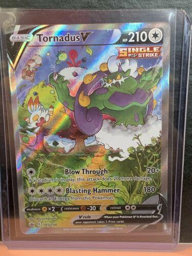 Pokémon Tornadus V 185/198 Ultra Rare Alternative Art Chilling Reign NM