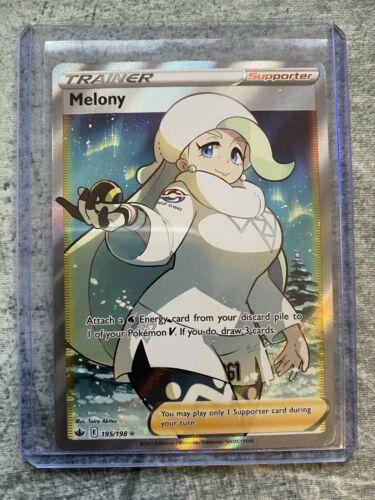 Pokémon Full Art Trainer Melony 195/198 Chilling Reign NM/M