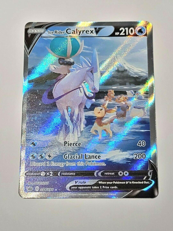 Ice Rider Calyrex V Alternate Art English Pokemon Card Chilling Reign 164/198