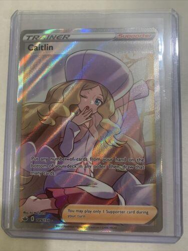 Caitlin 189/198 Full Art Trainer Pokemon Card Chilling Reign MINT
