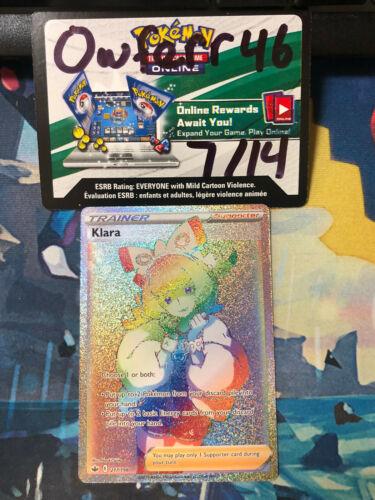 Klara Full Art Rainbow Secret Rare Pokemon Chilling Reign 217/198