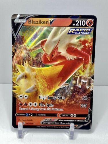 🌟🔥Pokemon Blaziken V 020/198 Ultra Rare Chilling Reign NEW IN-HAND🌟