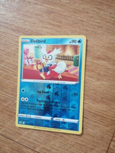 032/198 Delibird | Common Reverse Holo | Pokemon Trading Card Chilling Reign TCG