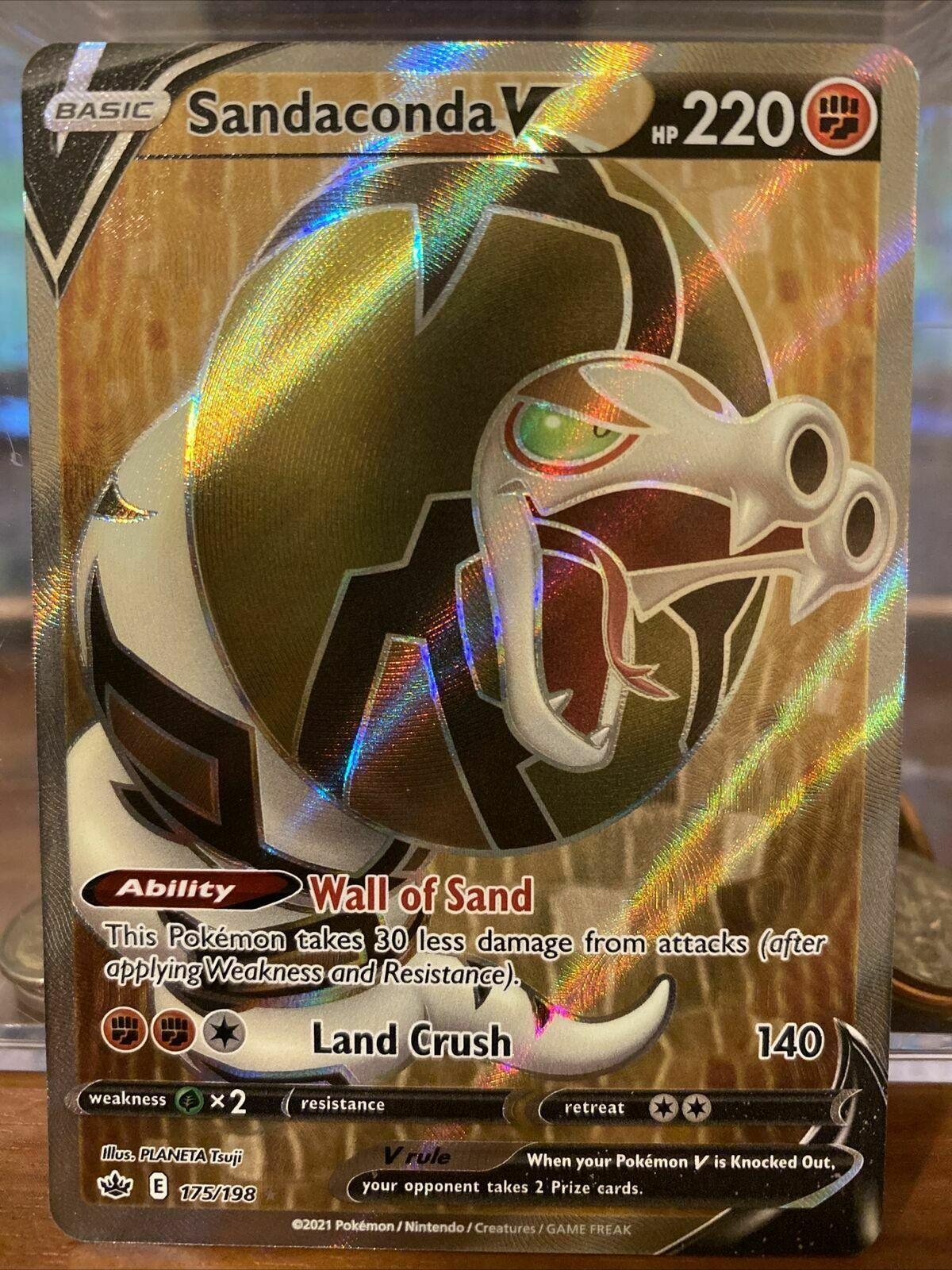 x1 Sandaconda V - 175/198 - Full Art Ultra Rare Pokemon SS06 Chilling Reign M/NM