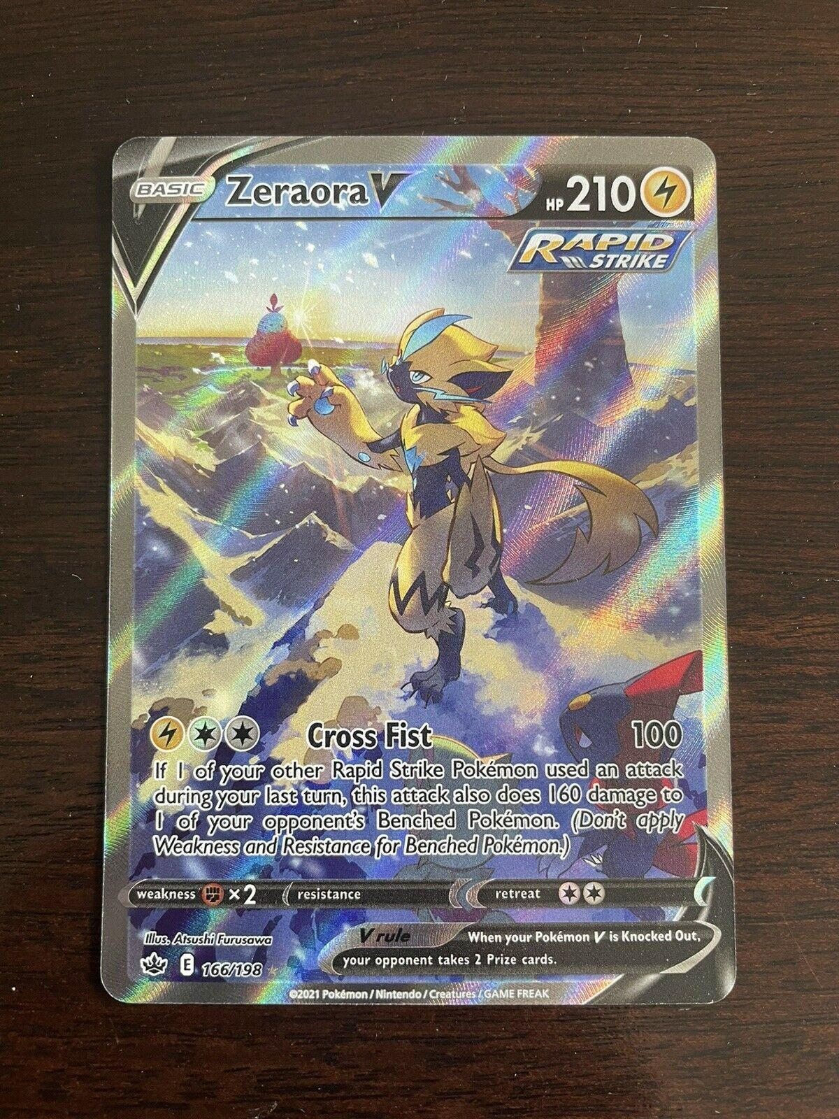 Zeraora V Alternate Full Art 166/198 - Pokemon Chilling Reign - Mint Condition