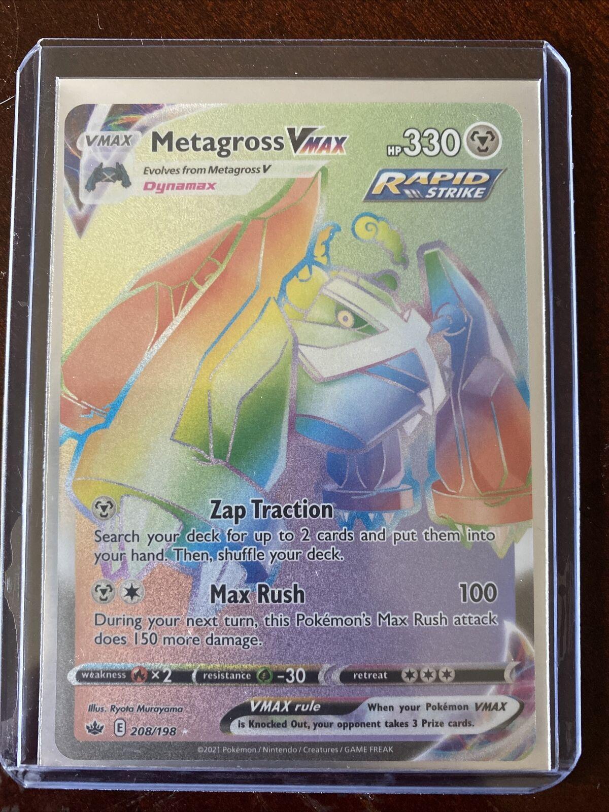 Metagross VMAX Pokemon Chilling Reign 208/198 Rainbow Secret Rare Nm/Mint - Image 1