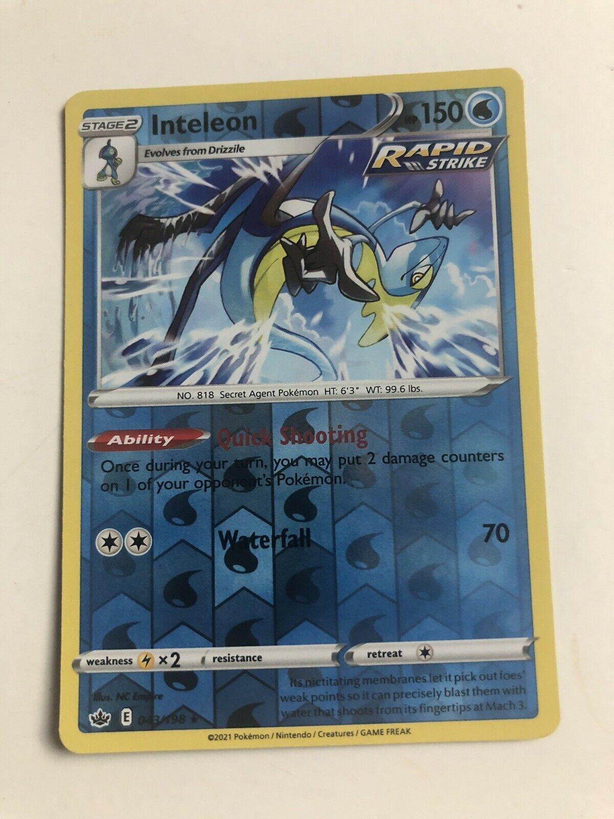 Pokemon: Chilling Reign 043/198 -INTELEON- Reverse Holo Rare