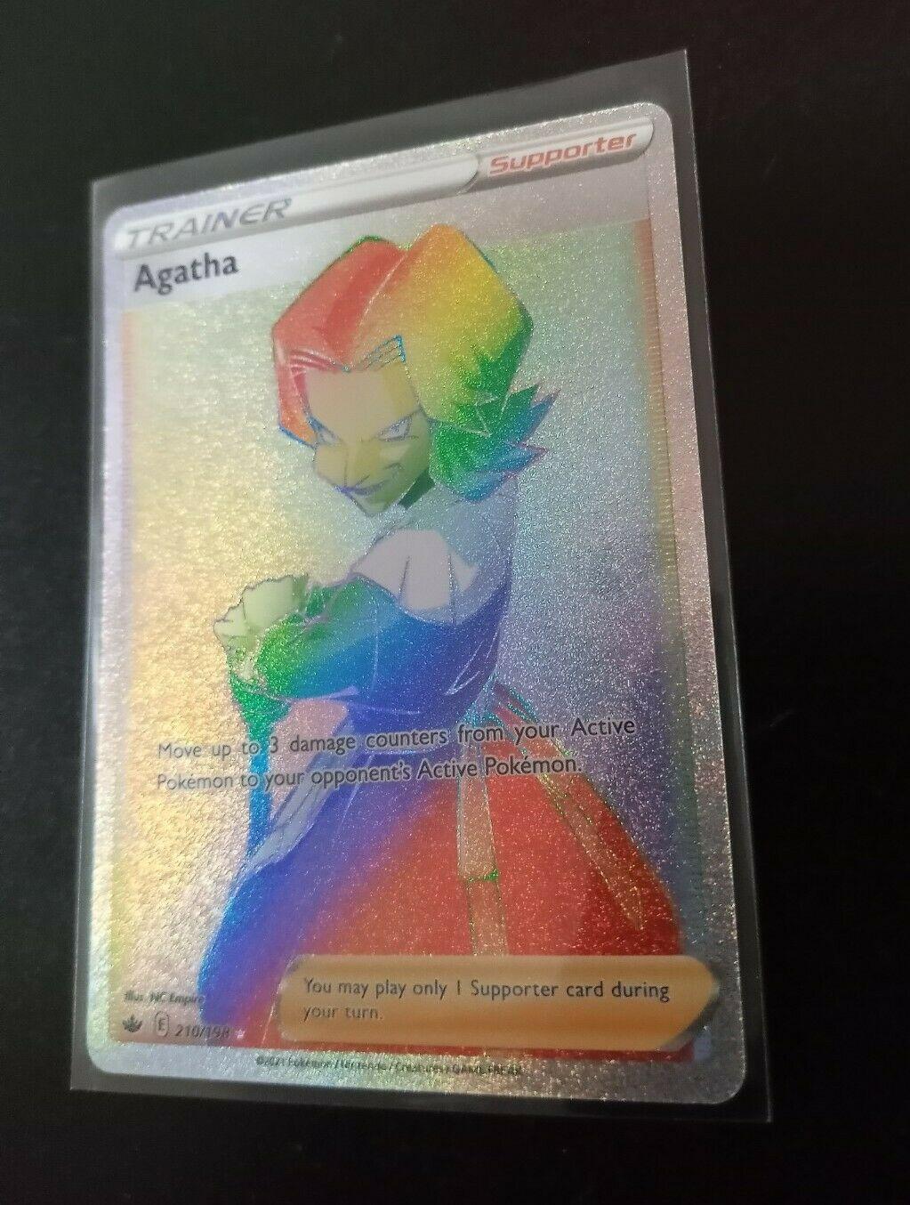 Pokemon Agatha Hyper Rare 210/198 Chilling Reign! Mint! Beautiful Card!