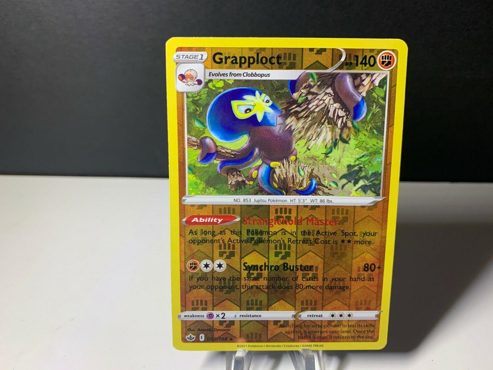 Pokemon Chilling Reign Grapploct Holo 092/198