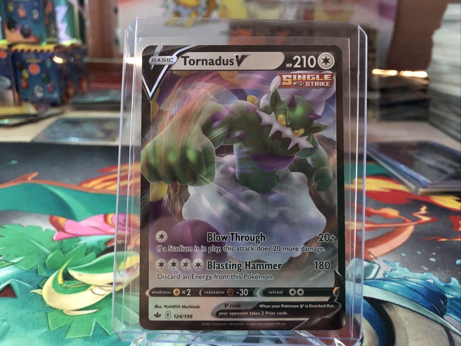 Tornadus V - 124/198 Holo Pokemon Card Chilling Reign