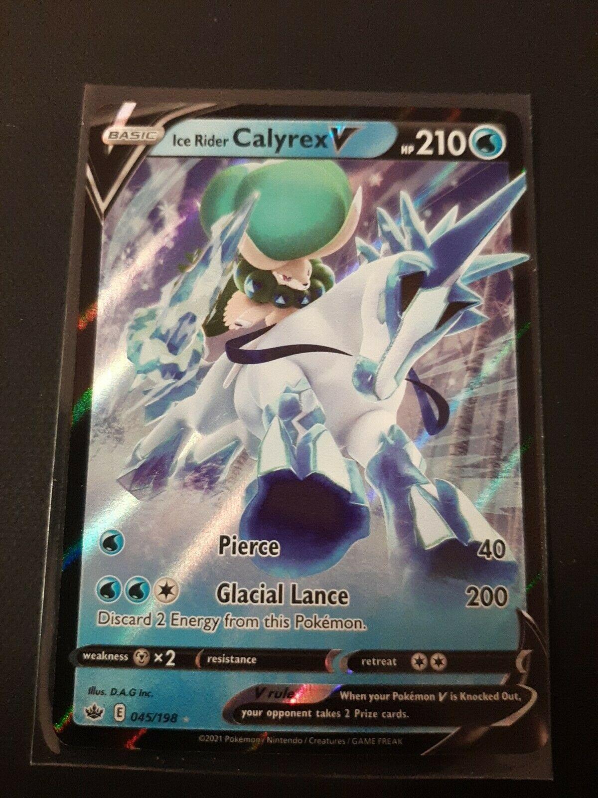 🧊 Ice Rider Calyrex V 045/198 Ultra Rare Full Art Chilling Reign Mint🌠