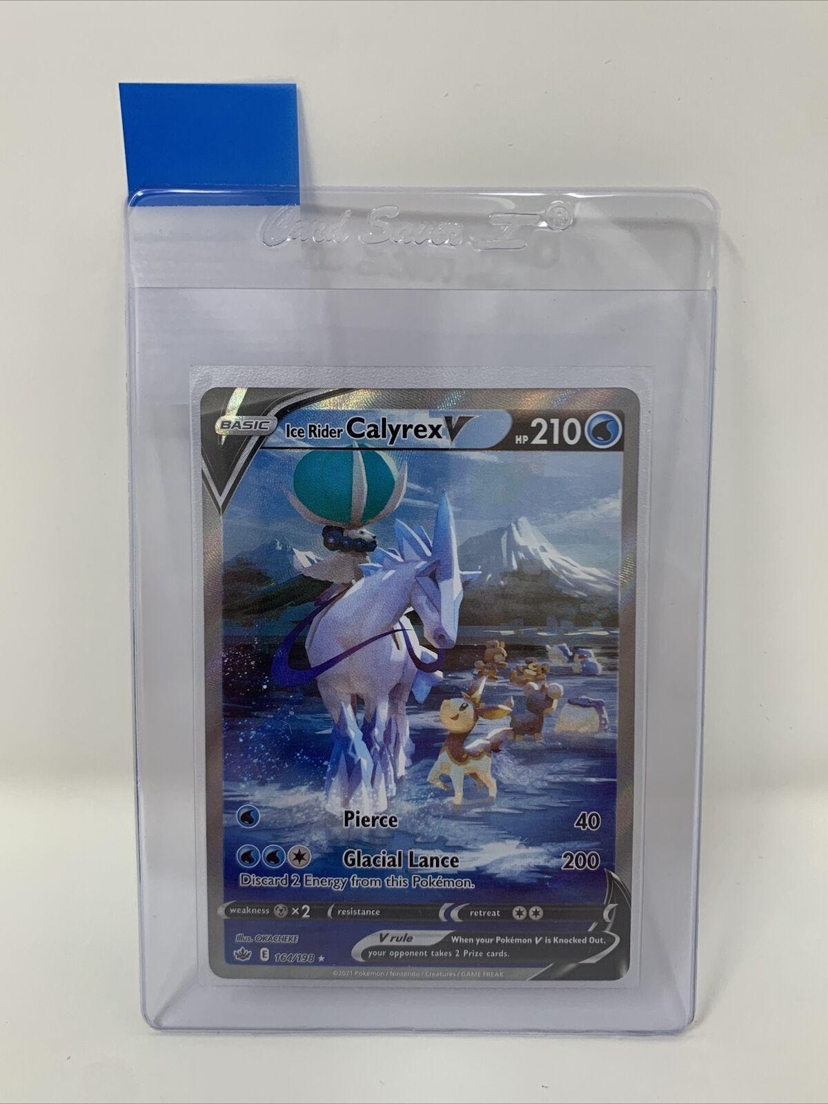 Pokemon TCG Ice Rider Calyrex V 164/198 Alternate Art Chilling Reign Ultra Rare