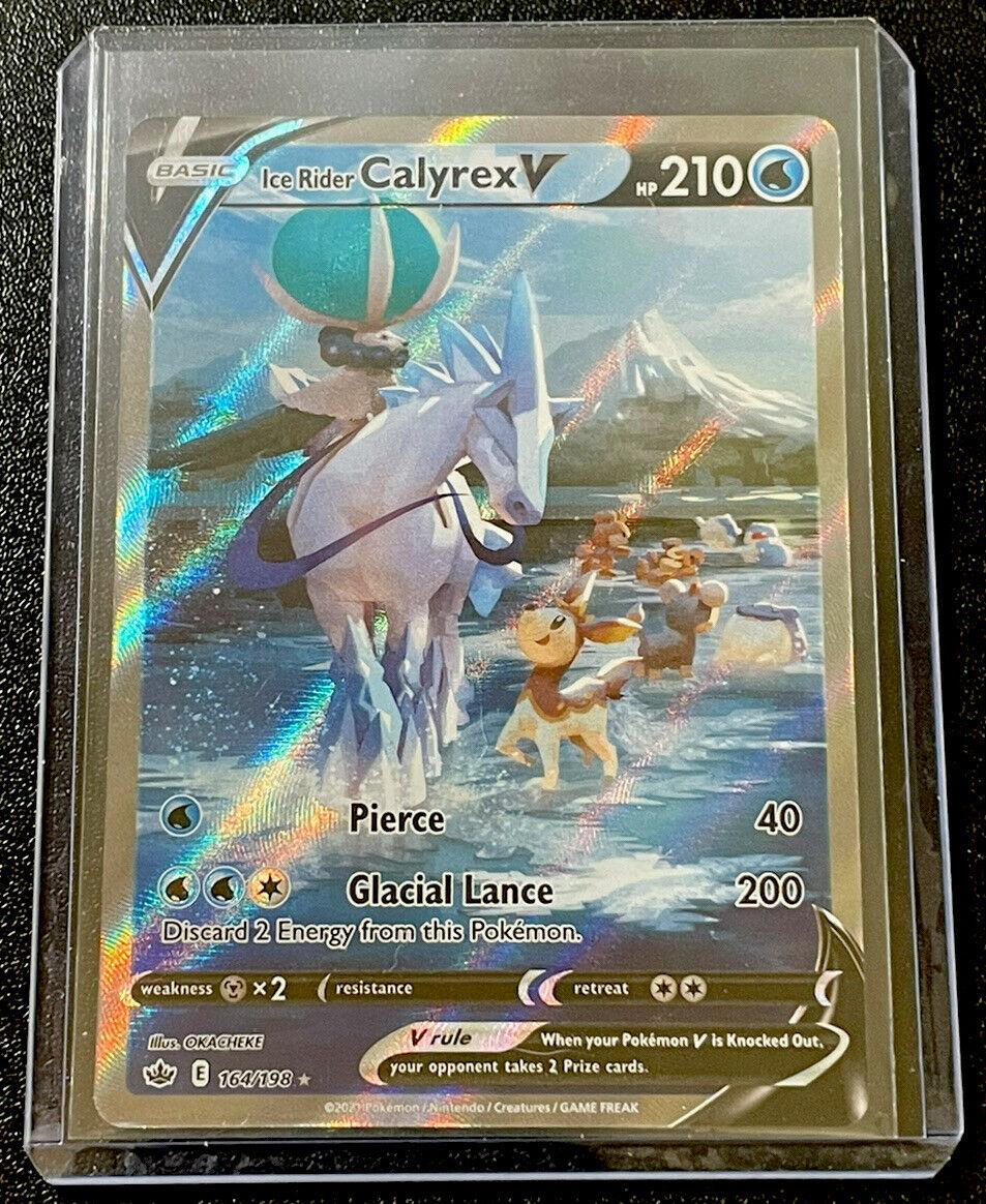 Ice Rider Calyrex V 164/198 Chilling Reign Pokémon Card Alternate Full Art NM