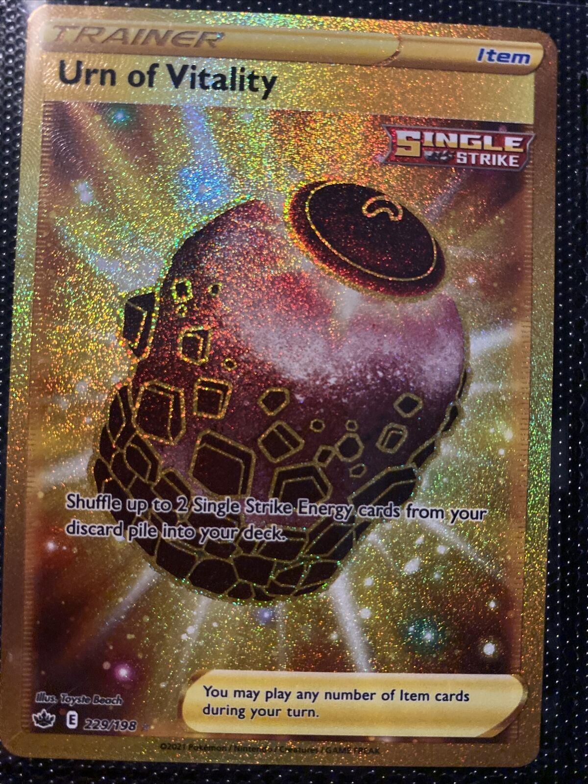 Urn of Vitality - 229/198 - Chilling Reign - Secret Rare *Double Sleeved*