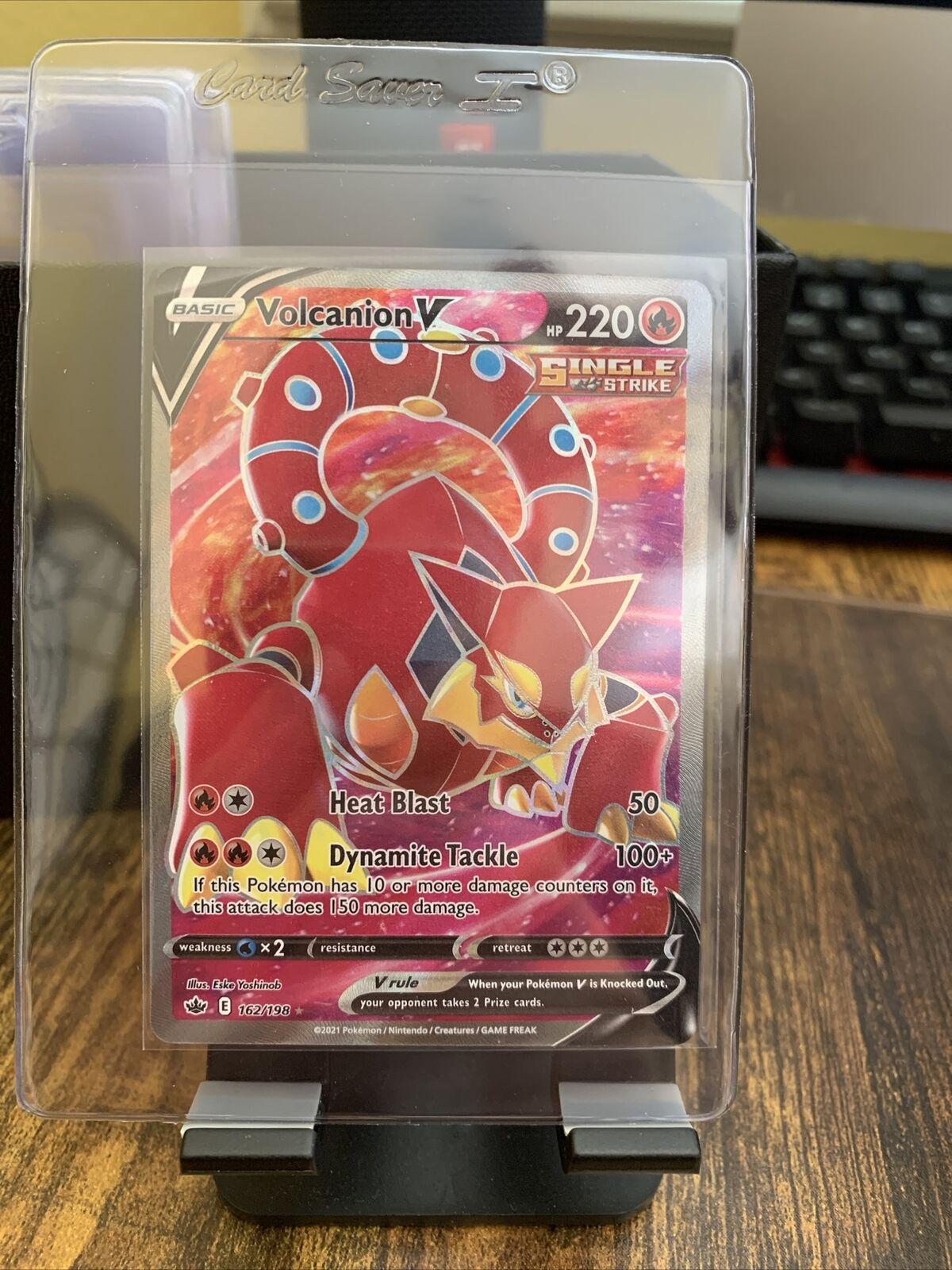 Pokemon - Volcanion V - 162/198 - Full Art - Chilling Reign - NM/M