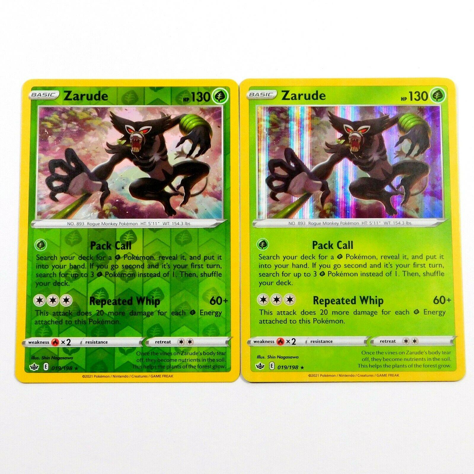 Zarude 019/198 Holo Rare - Reverse Holo Chilling Reign Pokemon Card NM/M