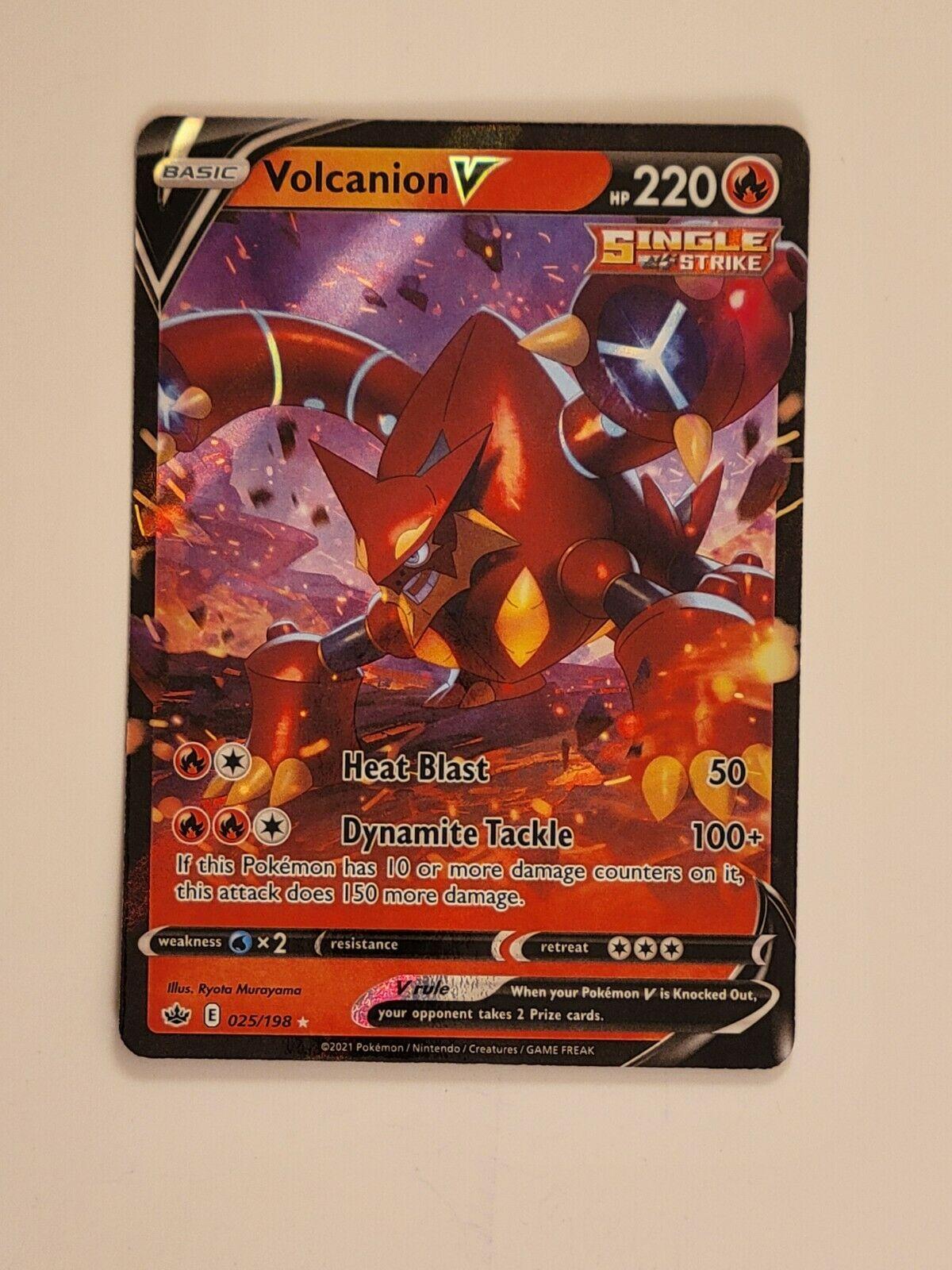 Volcanion V 025/198 Ultra Rare Pokemon Chilling Reign - NM/M