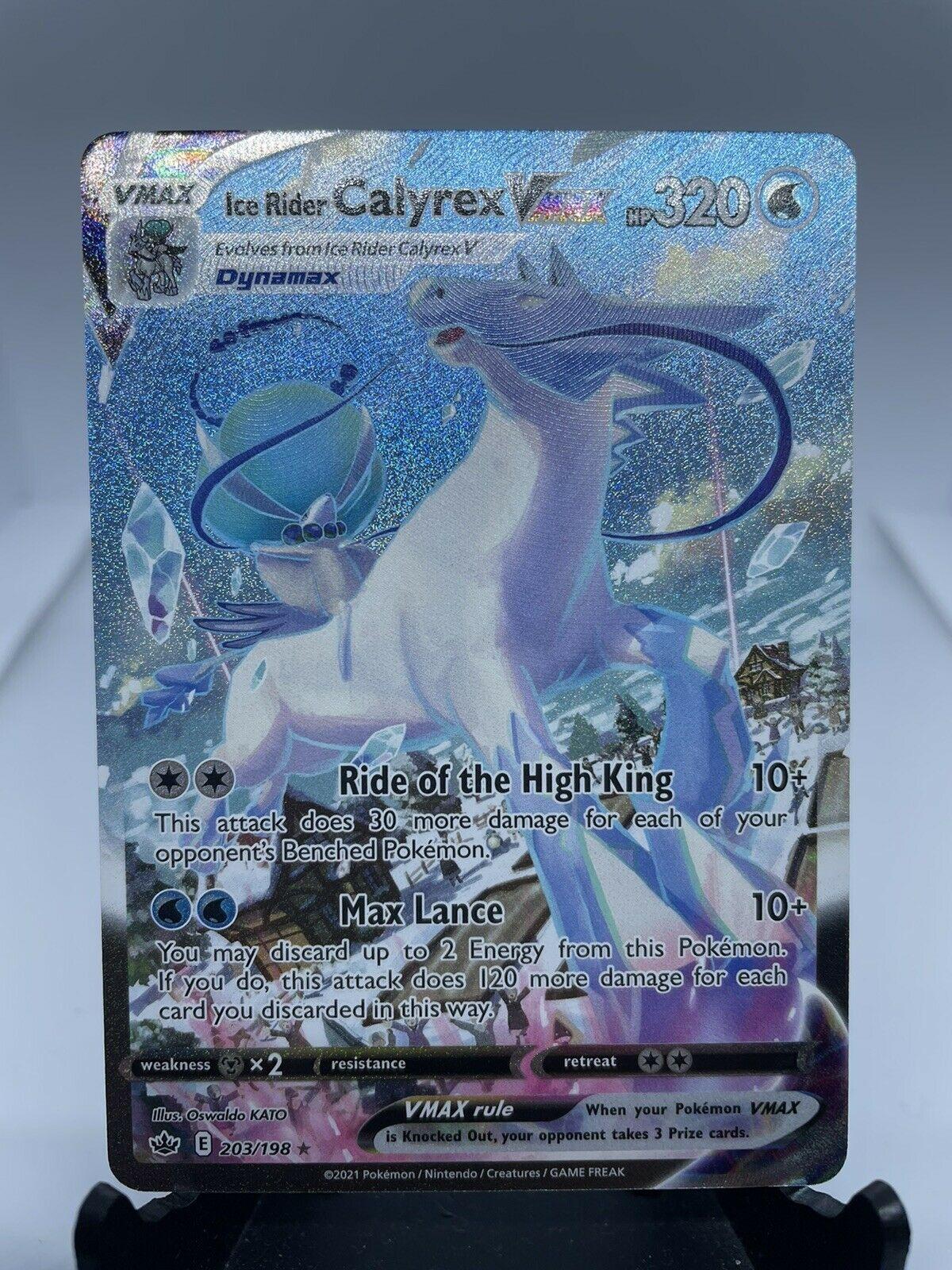 Ice Rider Calyrex VMAX 203/198 Chilling Reign Secret Rare Alternate Art Mint