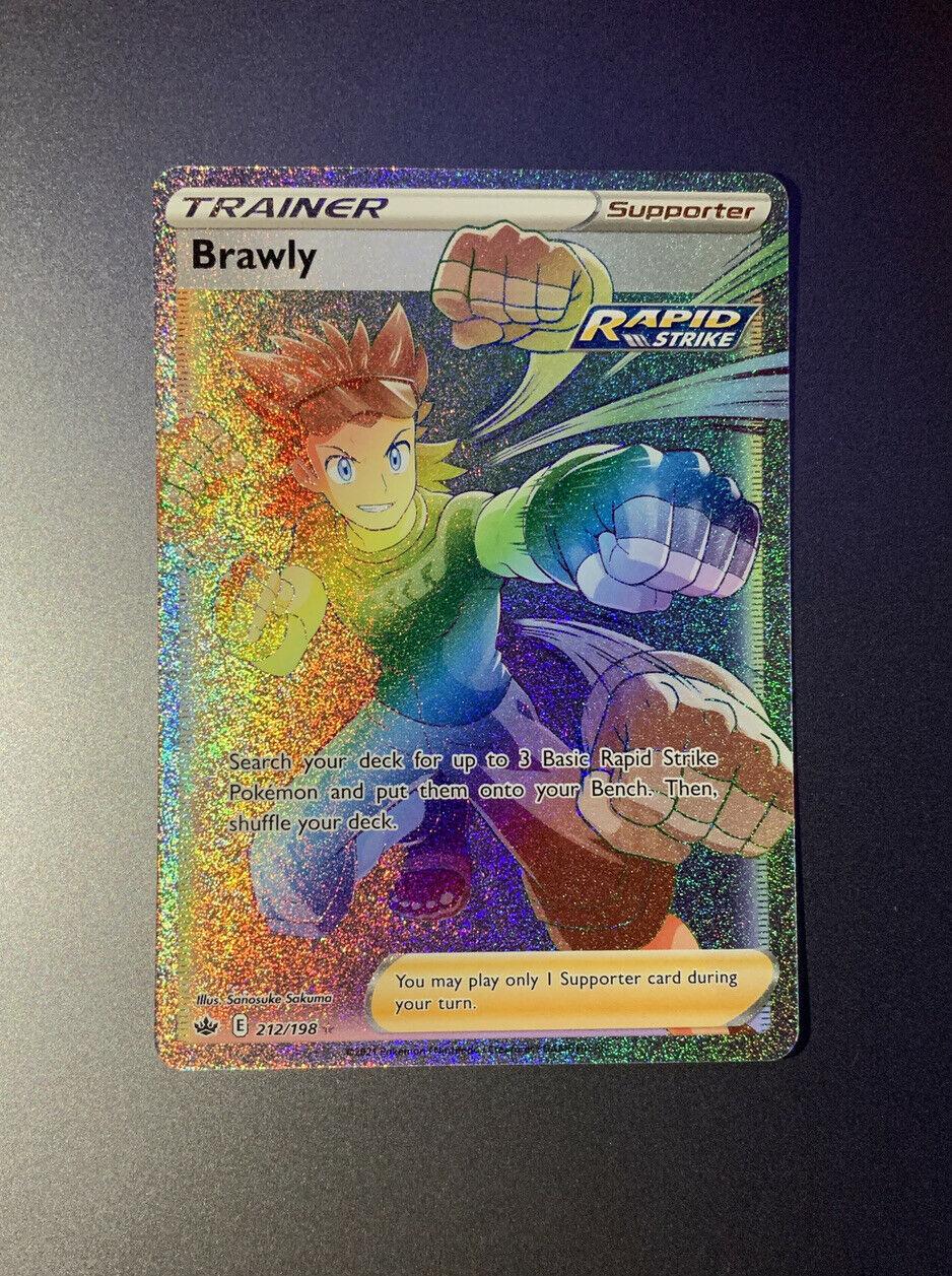 *MINT* Pokémon Brawly Full Art Rainbow Rare 212/198 Chilling Reign
