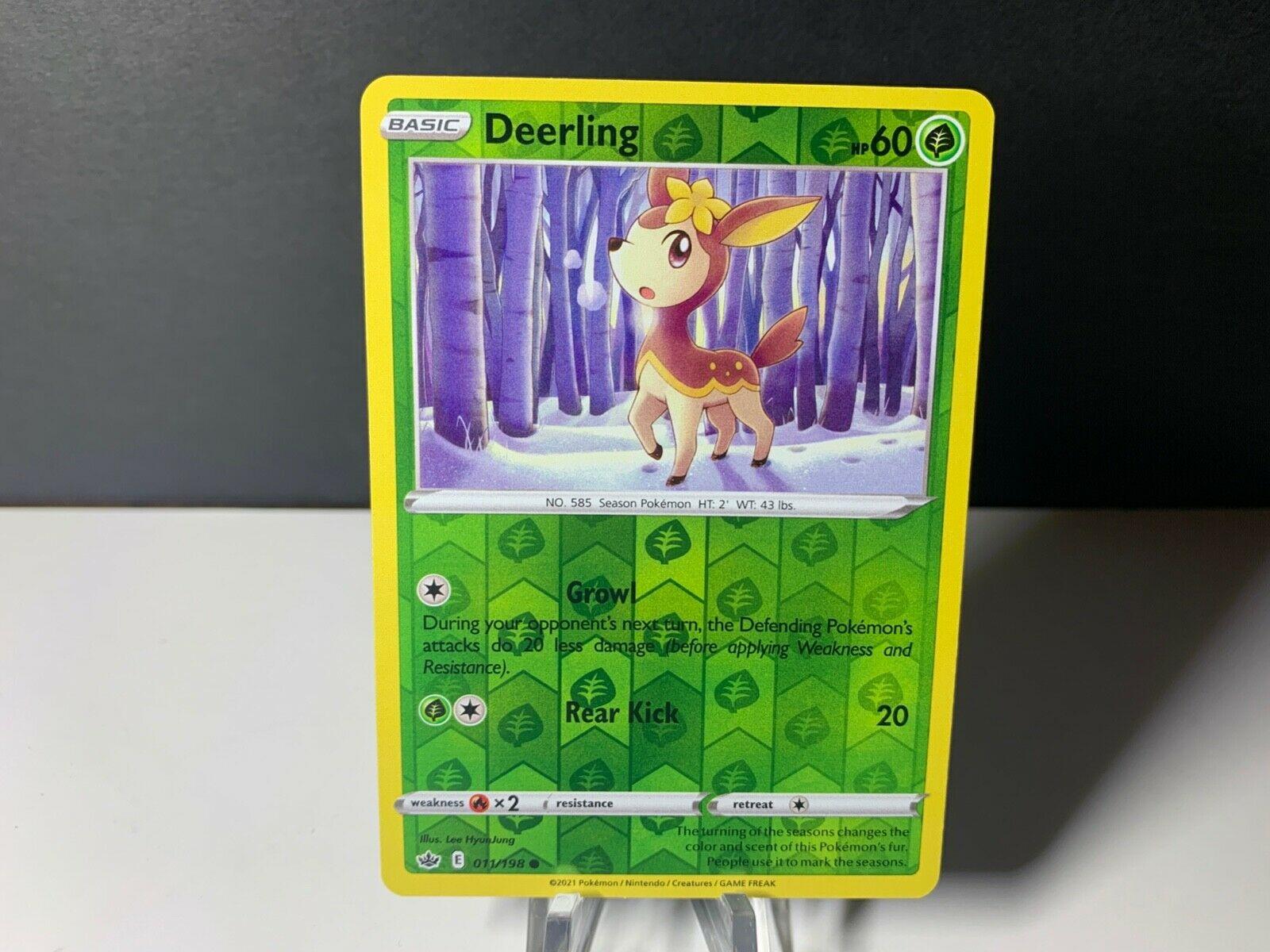 Pokemon Deerling - 011/198 - Reverse Holo Chilling Reign