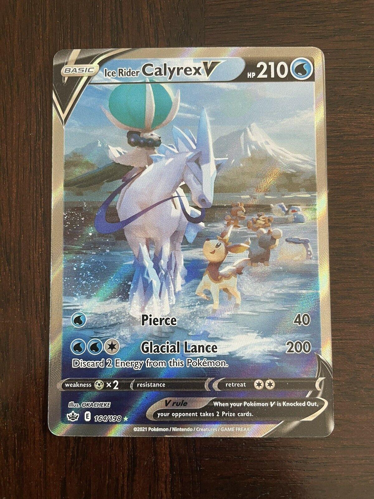 Ice Rider Calyrex V Alt Full Art 164/198 - Pokemon Chilling Reign - Mint