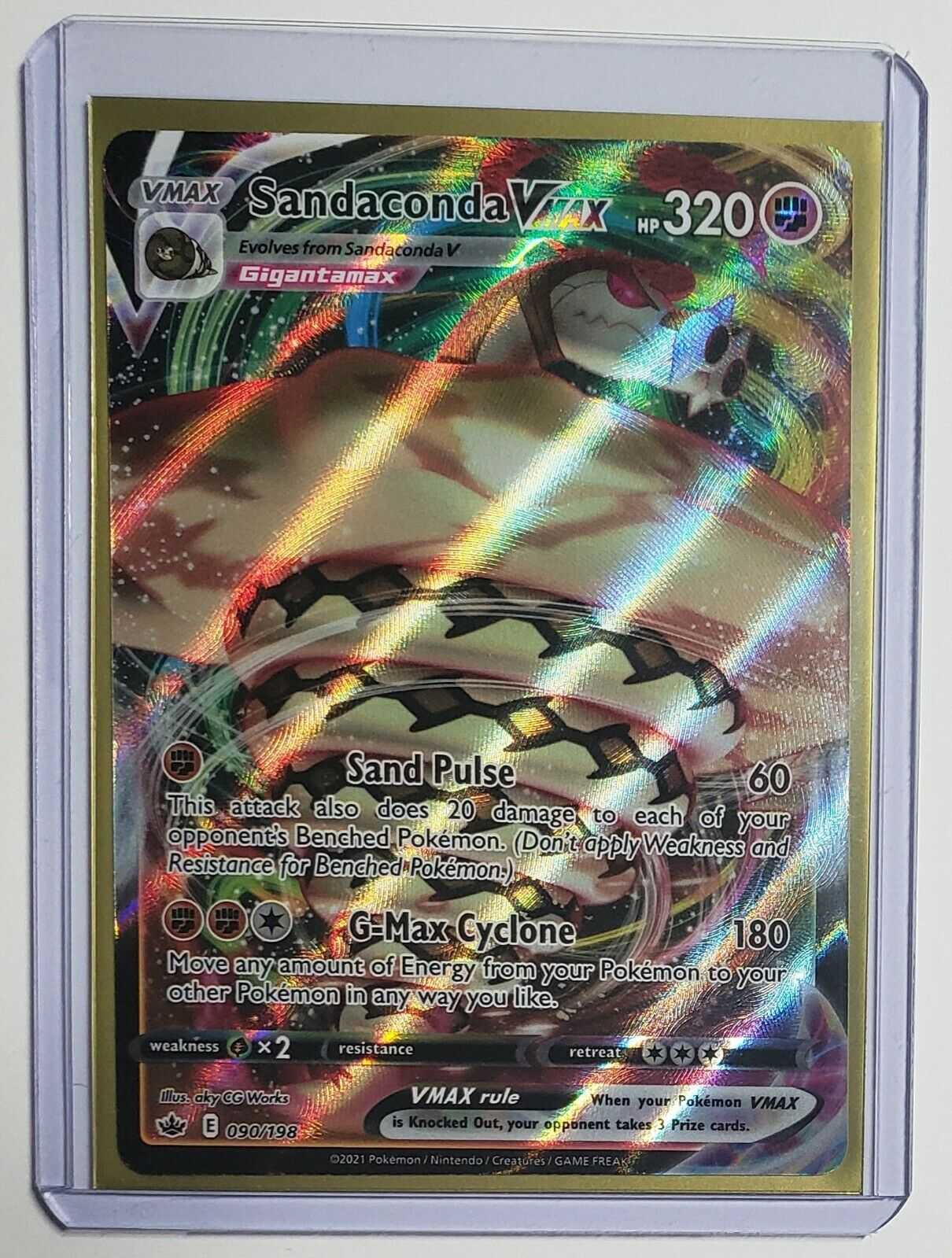 Pokemon TCG Chilling Reign Sandaconda Vmax #090/198