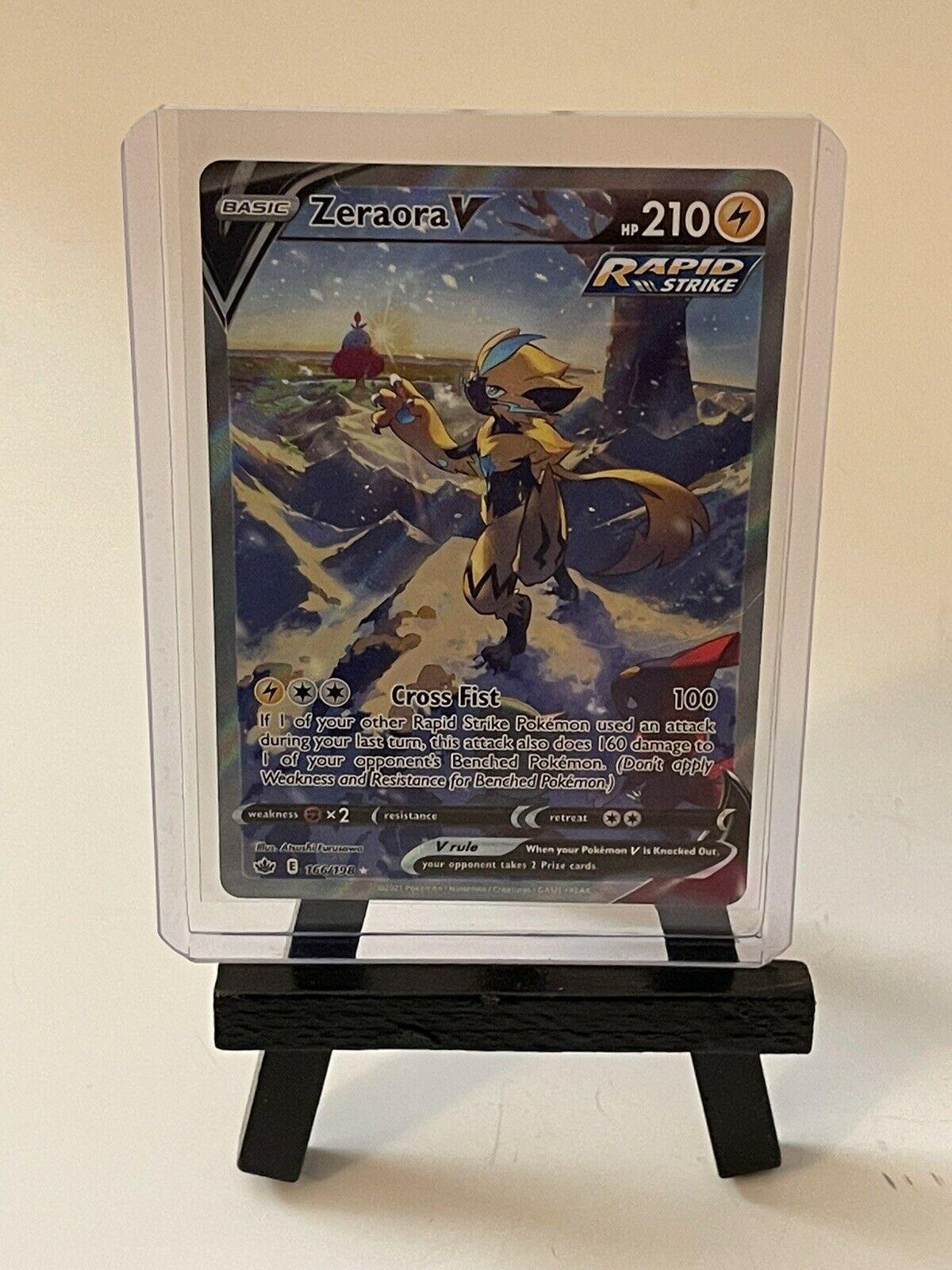 2021 Pokemon Chilling Reign Zeraora V Alternate Art Full Art Rare 166/198 NM/M