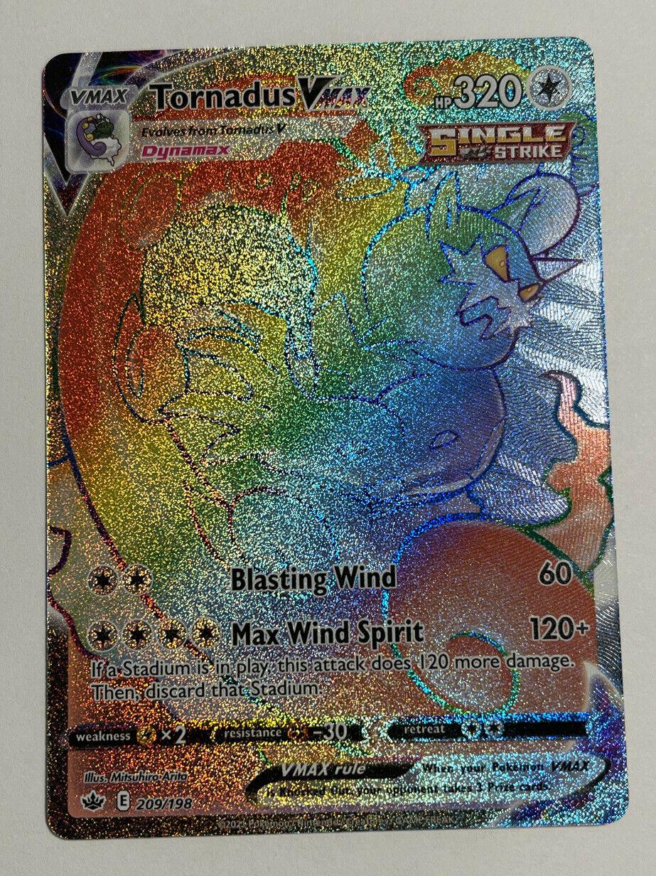 Tornadus VMAX Secret Rainbow Rare 209/198 Pokemon TCG: Chilling Reign