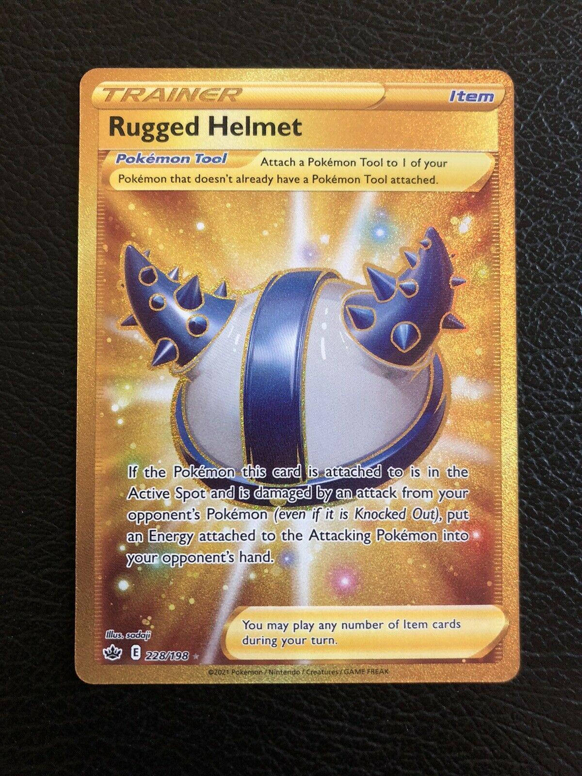Rugged Helmet 228/198 Pokemon Chilling Reign Secret Rare Mint